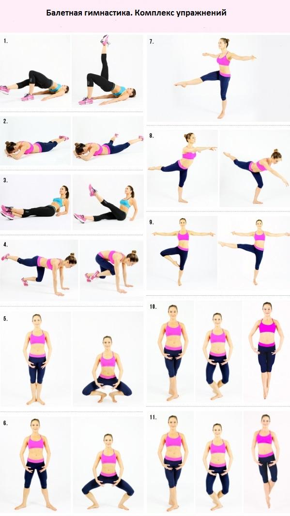 Упражнения для балетной гимнастики
