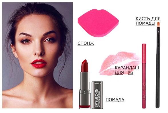 Классика жанра — красные губы макияж для бальных танцев