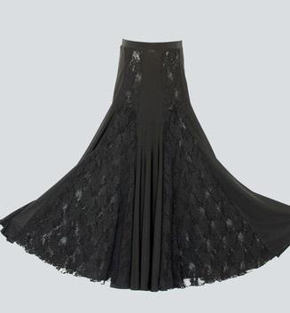 Тренировочная черная юбка